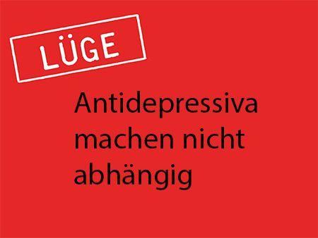 Antidepressiva machen abhängig