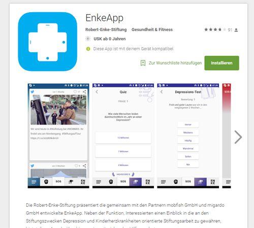 EnkeApp im Playstore