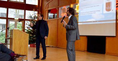 Peter Ansari und Uwe Gonther bei der Diskussion