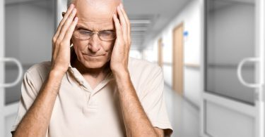Depressiver Patient in einer Klinik