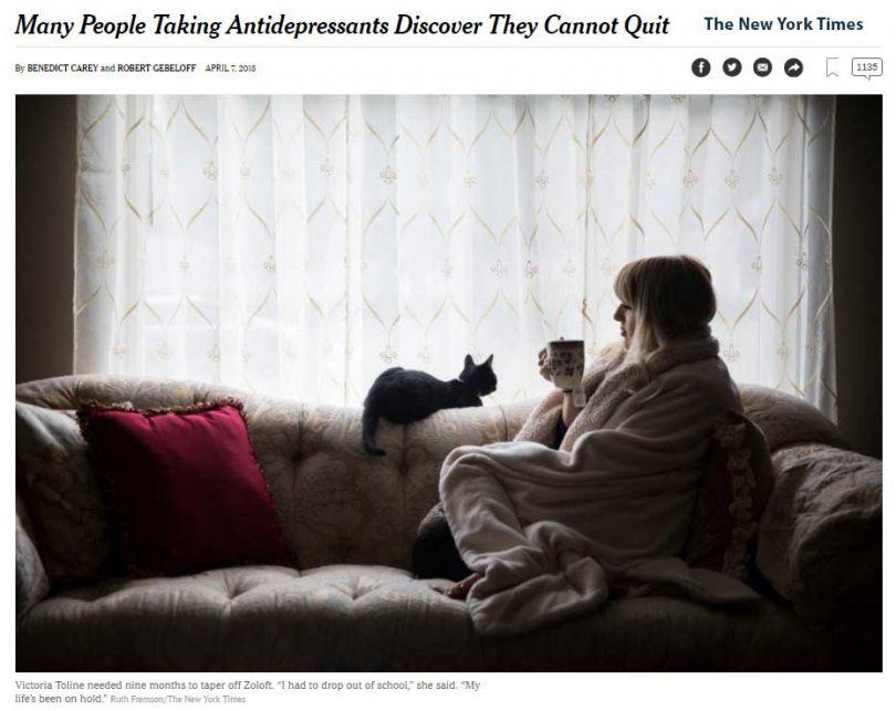 nyt quit antidepressants