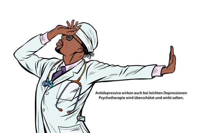 Der Psychiater empfiehlt Antidepressiva auch bei leichten Depressionen