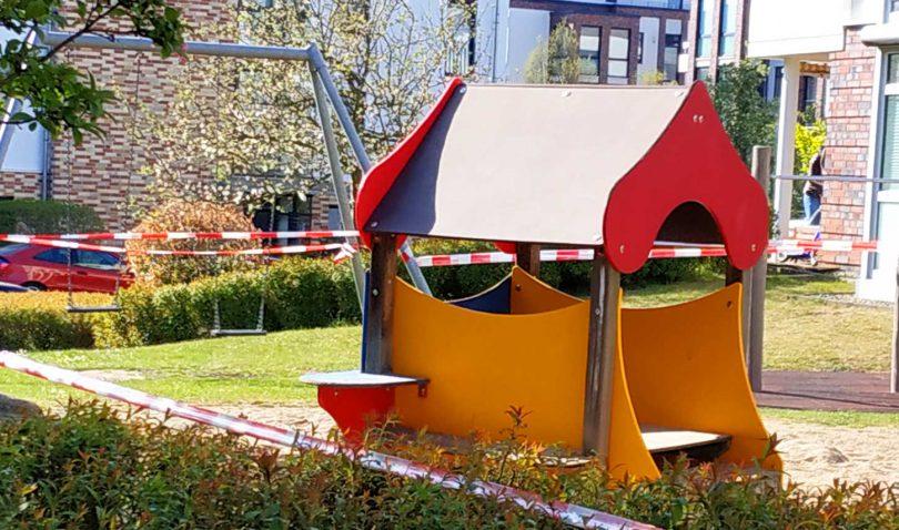 Spielplatz in Deutschland April 2020