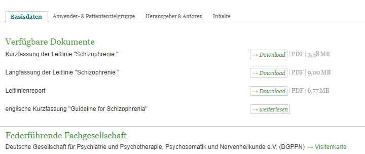 Bild für S3-Text Leitlinie Schizophrenie